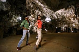 Naayak Kajal in gold pants