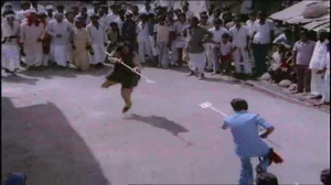 Kalicharan-one legged Trishul fight