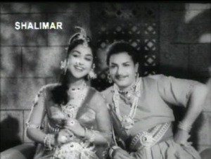 Jagadeka-Veeruni-Katha-NTR and Saroja Devi