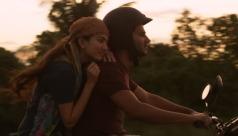 Kali Siddharth and Anjali bike happy