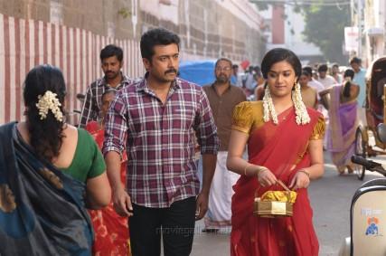 Suriya, Keerthi Suresh in Thaana Serntha Koottam HD Photos